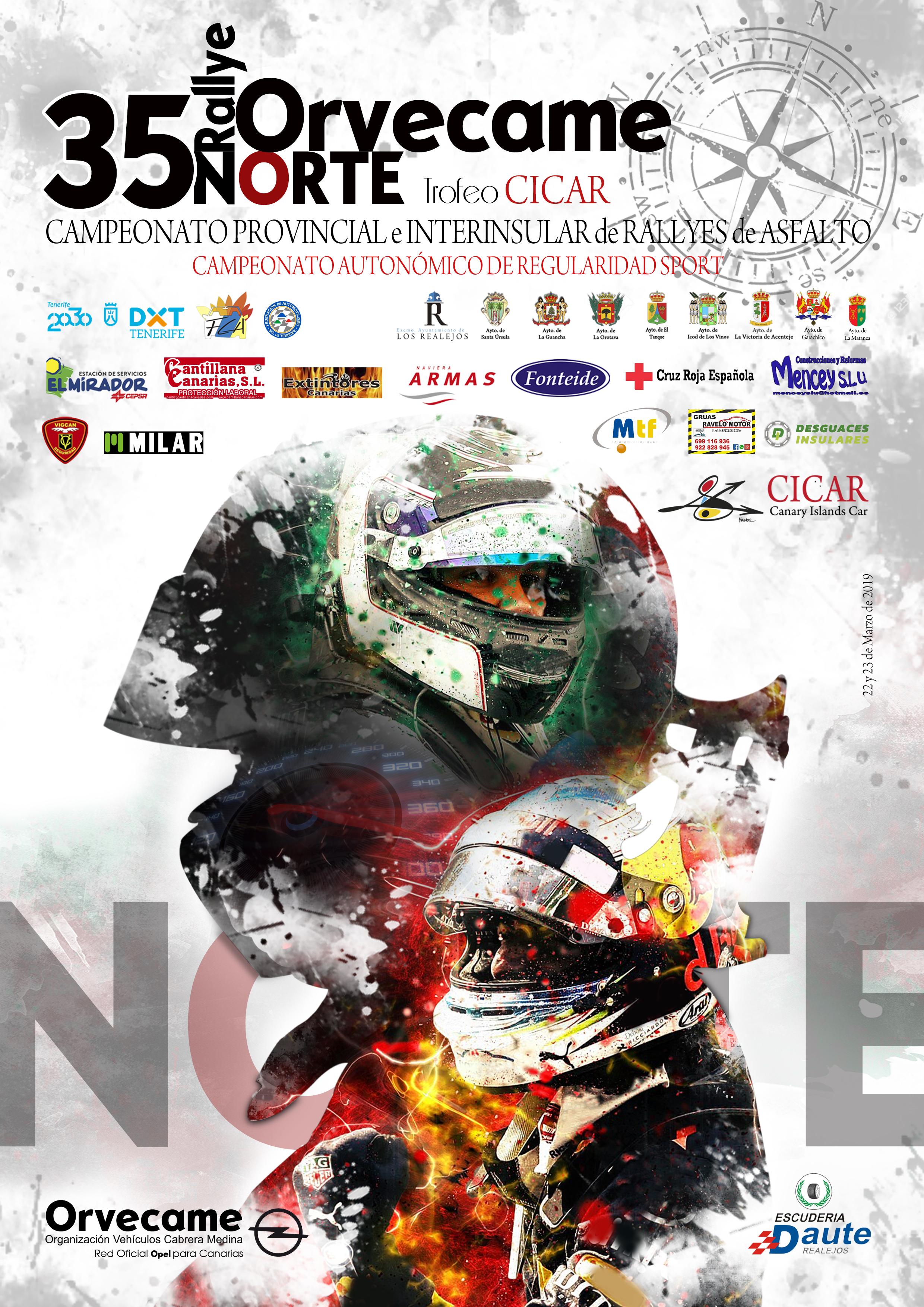 📢 Gran lista de inscritos para empezar la temporada 🏁35º Rallye Orvecame Norte Trofeo Cicar