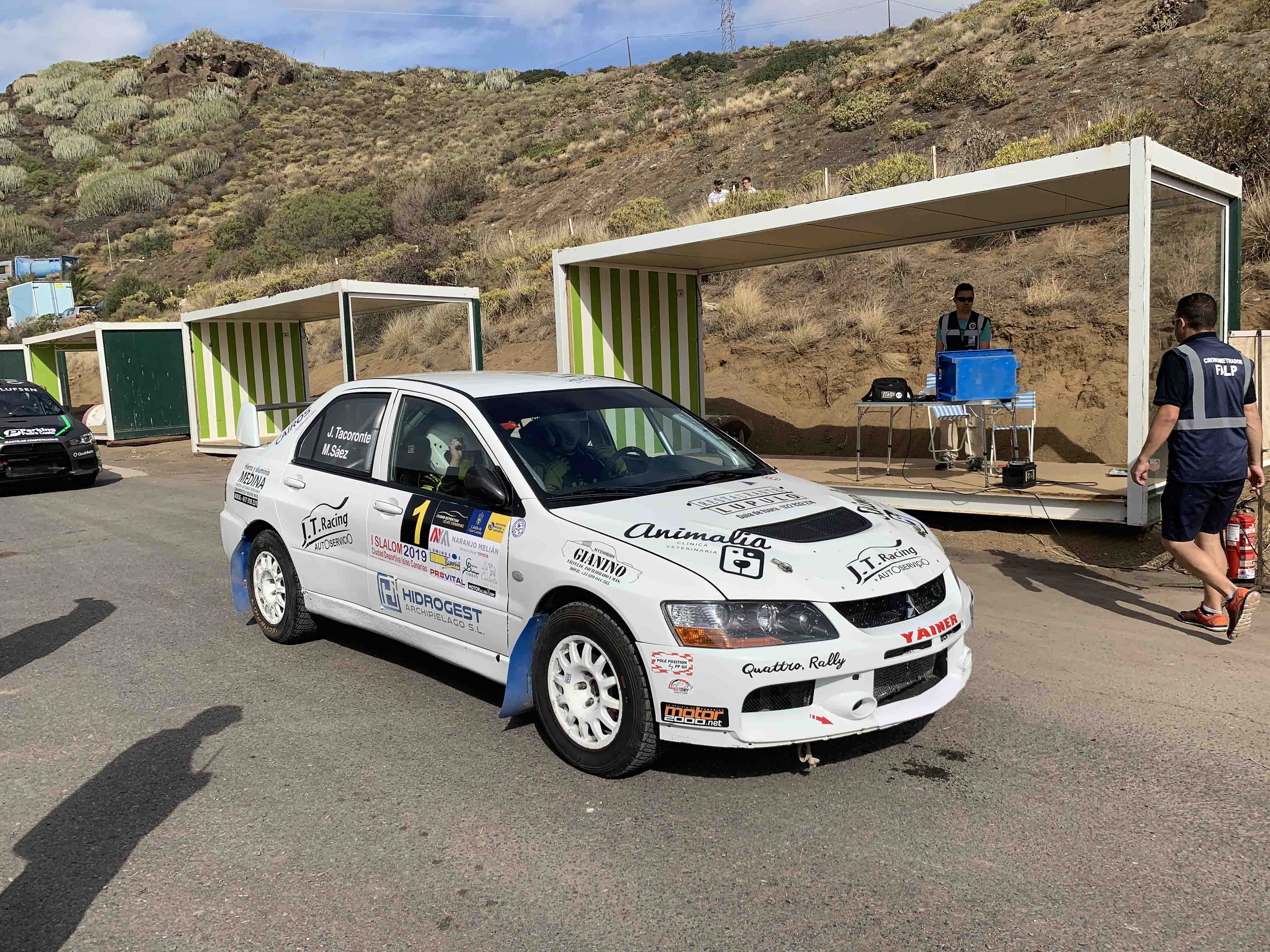 📢 Tacoronte y Sáez, sin rivales en la tierra en el I Slalom CDIC