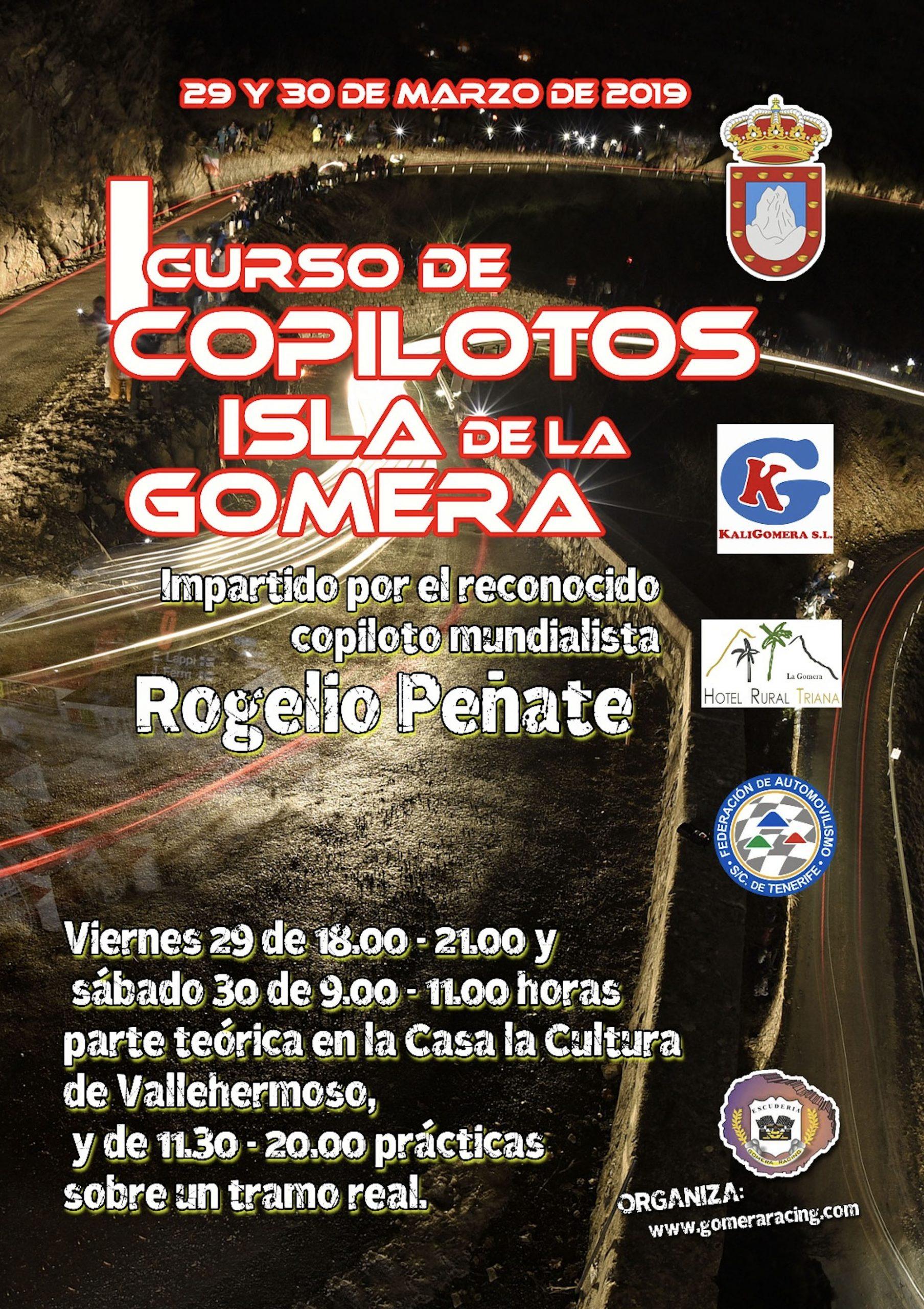 📢 I Curso de Copilotos Isla de La Gomera, organizado por la Escudería Gomera Racing