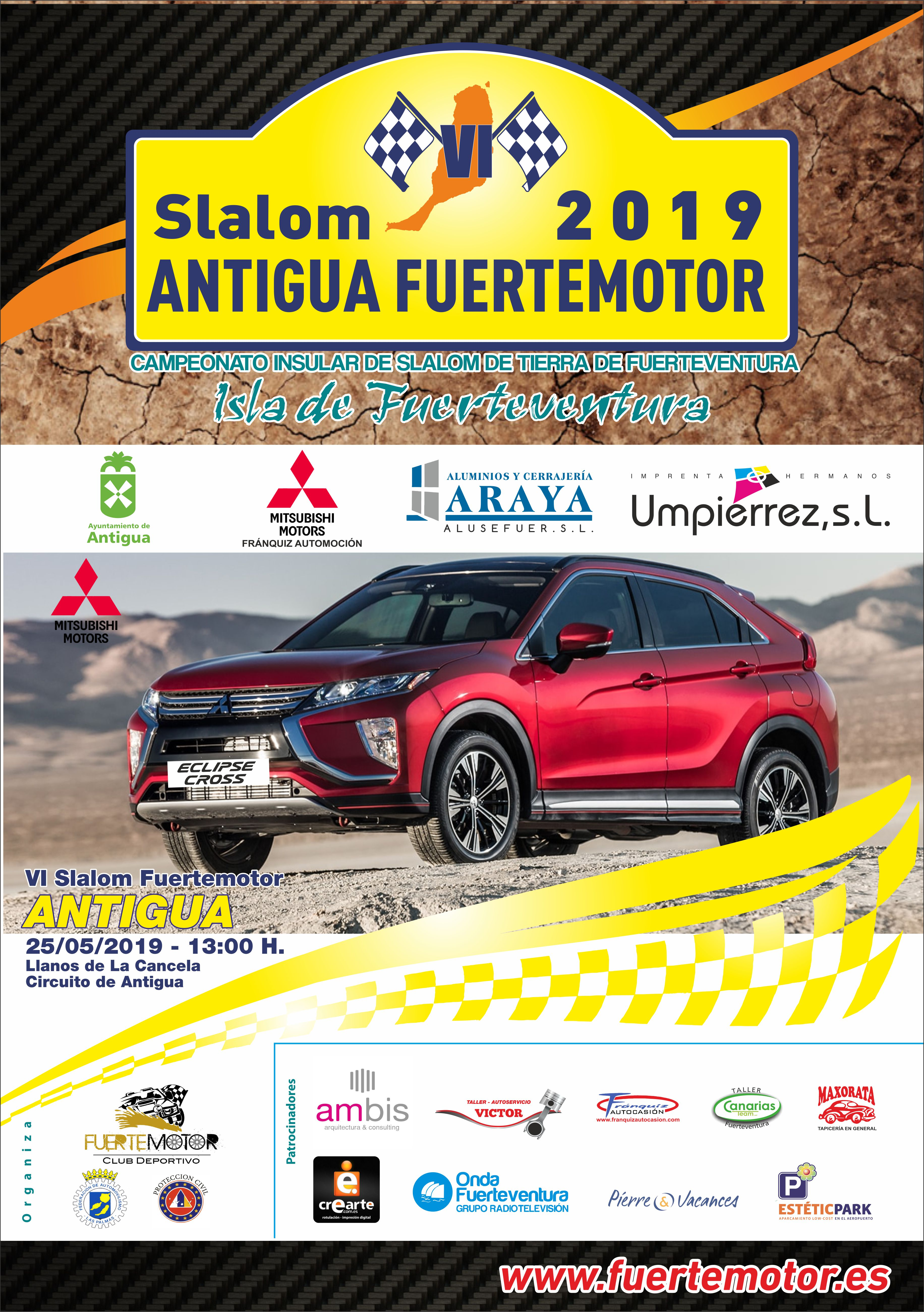 📢 El VI Slalom de Antigua del CD FuerteMotor finaliza su periodo de inscripciones, MAÑANA Sábado