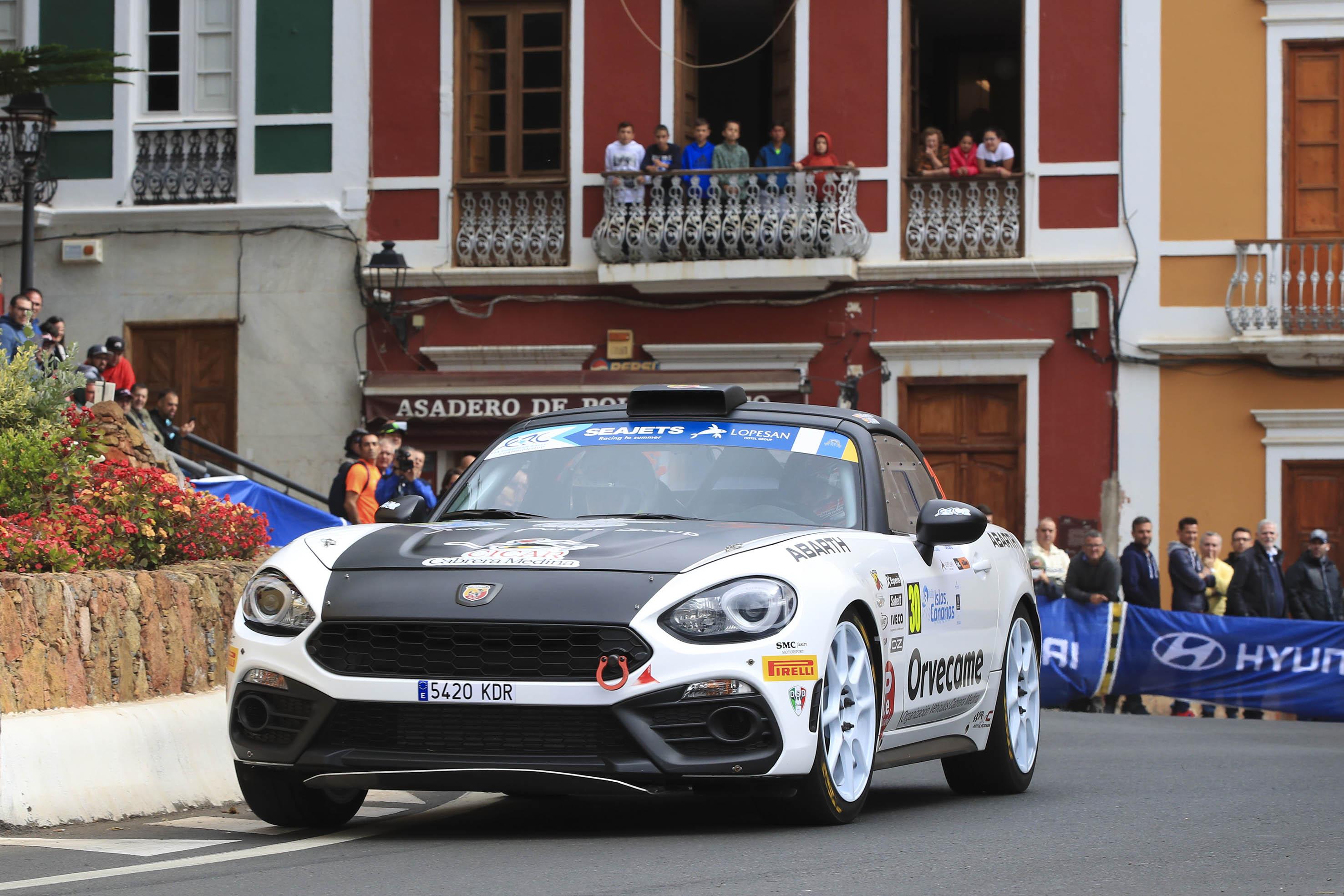 📢 Doble podio para García y Díaz en el apartado internacional del 🏁 Rally Islas Canarias