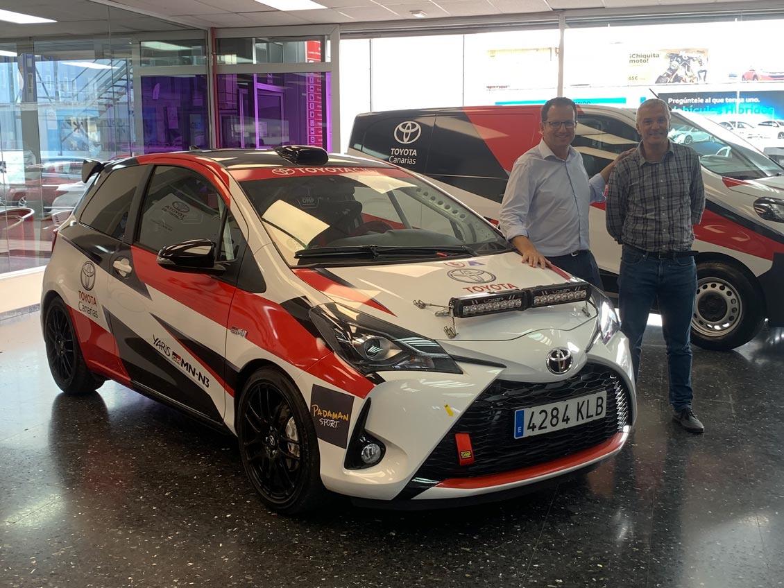 📢 Padaman Sport arranca con fuerza📢 Toyota Yaris llega a un acuerdo con el Equipo Padamán Sport para participar con el 🚗 Yaris GRMN en los próximos 🏁Rallys Canarios