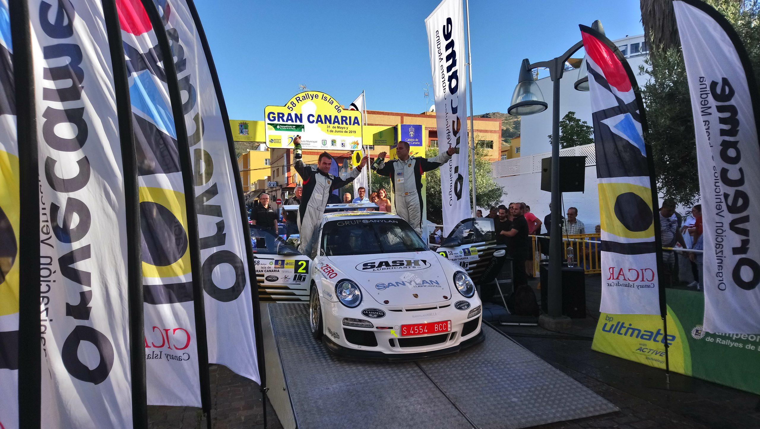 📢 Iván Armas-Fran Vega firman una excelente victoria con su nuevo 🚗 Porsche en el 🏁Rally Isla de Gran Canaria