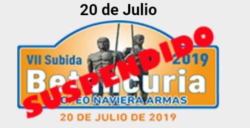 📢 El CD FuerteMotor comunica la suspensión de la 🏁 VII Subida de Betancuria