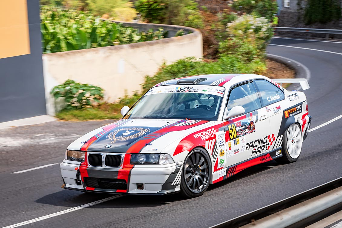 🚗💨 Cristian Alemán – BMW M3 (E36) cerca del podio en 🏁La Subida Arucas, Gran Canaria 2019