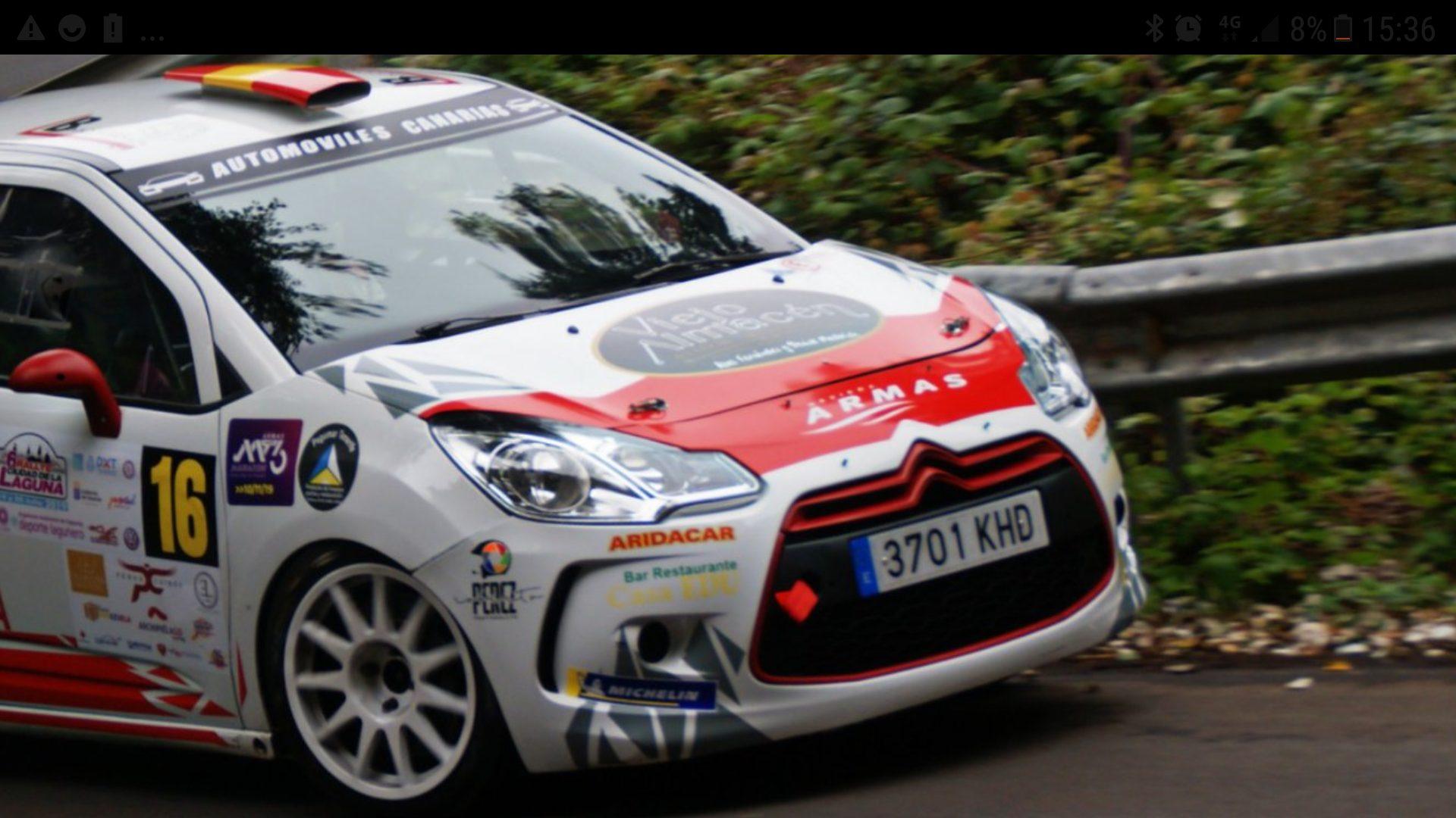 🚗💨 Poca fortuna para el equipo de Naviera Armas ( Domi Guerra-Nazer Ghuneim) en el 🏁 Rally Ciudad de La Laguna.