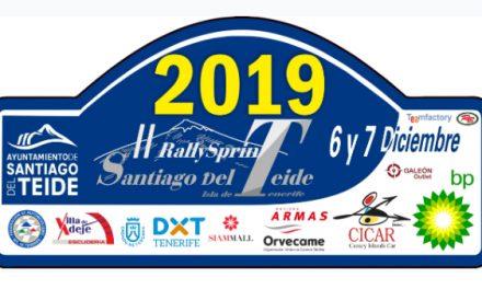 Manuel Mesa abrirá carrera este sábado 81 equipos forman la lista de inscritos para el 🏁 RallySprint Santiago del Teide