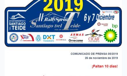 📢¡¡ Ú L T I M A  H O R A !! APLAZADO EL ACTO DE PRESENTACIÓN del🏁 RallySprint Santiago del Teide