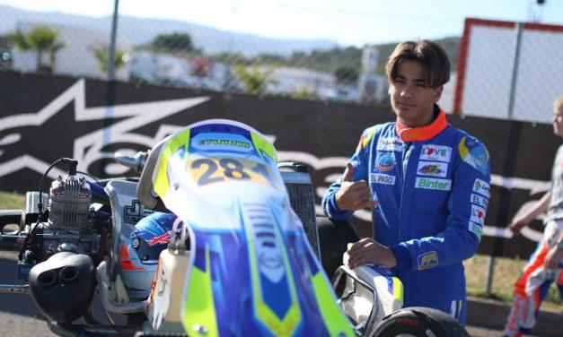 La salida de la cadena condicionó la carrera de Santi Concepción Jr en la  Winter Cup internacional