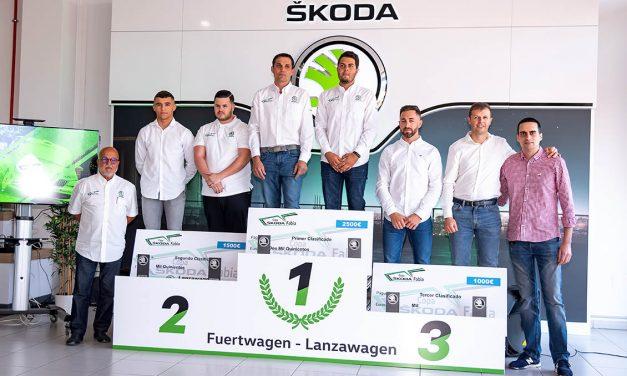 Sorpresa en la entrega de trofeos de la  III Copa Škoda Fabia
