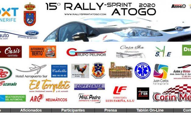 Lista oficial de inscritos del Rallye Sprint de Atogo en su 15º edición.
