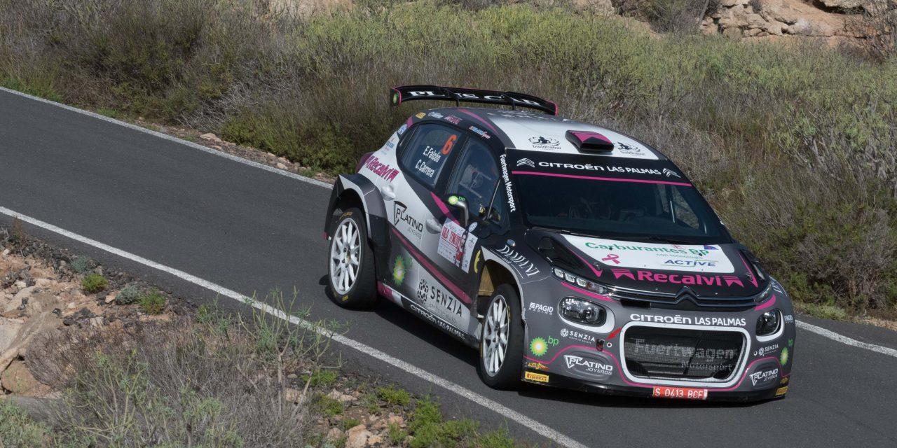 Falcón y Carrera, novenos en el Rally Isla Tenerife