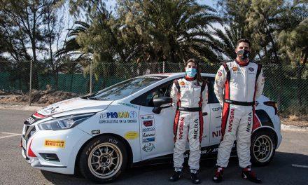 Alba García y Daniel Quintana en la Copa Nissan Micra