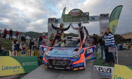 Antonio Ponce, acompañado por Dani Sosa, alcanza su octava victoria en el Rallye Villa  de Santa Brígida