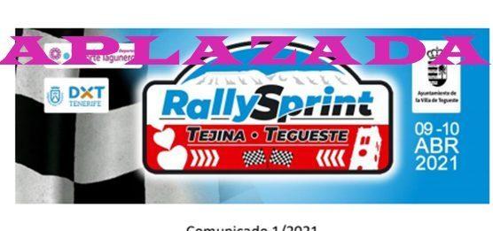 Sport Eventos Tenerife solicita a la FIASCT aplazar el Rallysprint Tejina-Tegueste por el nivel 3 de Tenerife