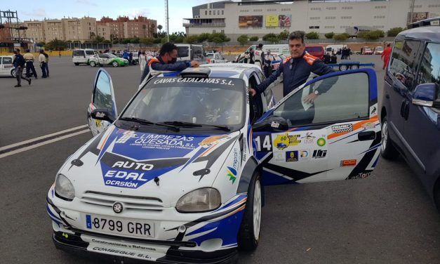 Auto Édal Competición con Fran Santana y Pedro Quesada en el 60 Rally Isla De Gran Canaria con el Corsa Kit Car.