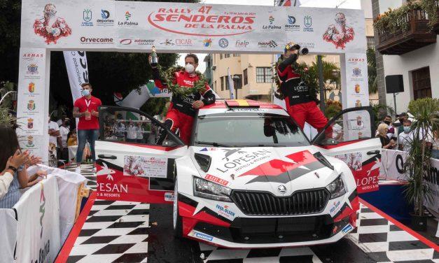 Monzón y Déniz estrenan el Skoda Fabia Rally2 Evo con un segundo puesto en La Palma
