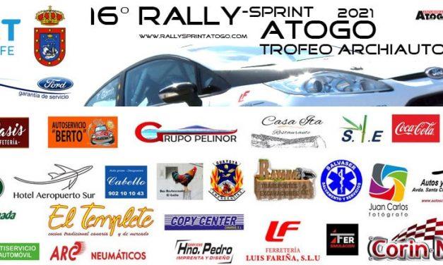 La 16º edición del Rallye Sprint de Atogo entra en su recta final.
